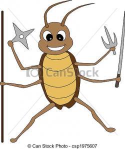 Cockroach clipart cute