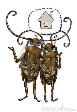 Cockroach clipart sad