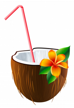 Coconut clipart coconut cocktail