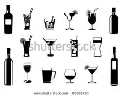 Liquor clipart retro cocktail