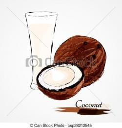 Coconut clipart coconut milk