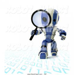 Binary clipart magnifying glass