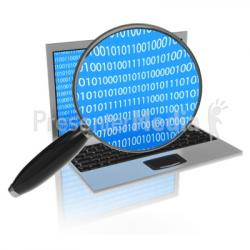 Coding clipart magnifying glass
