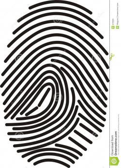 Binary clipart simple fingerprint