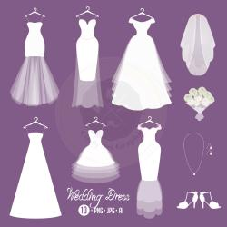 Wedding Dress clipart code