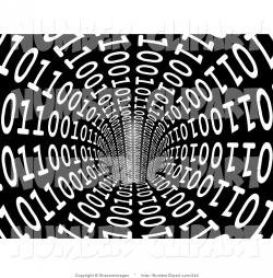 Binary clipart black and white