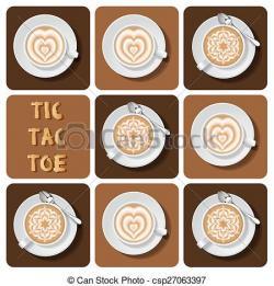 Cappuccino clipart latte art