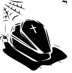 Creepy clipart coffin