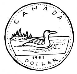 Canada clipart loonie