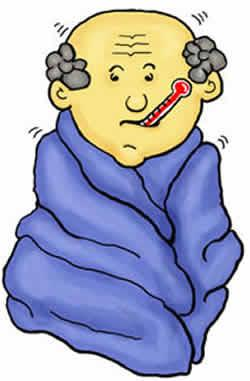 Chill clipart high fever