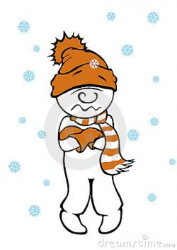 Chilling clipart cold man