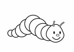 Caterpillar clipart outline