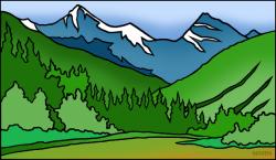 Mountain clipart colorado mountain