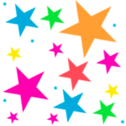 Falling Stars clipart colourful star