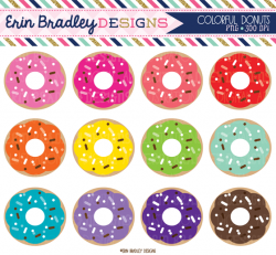 Colouful clipart donut