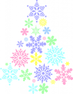 Colouful clipart snowflake