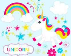 Digital clipart unicorn