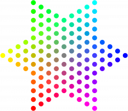 Dots clipart colored