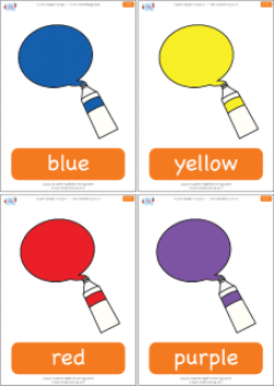 Colors clipart flashcard