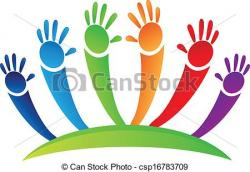 Colors clipart hand up