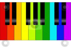 Color clipart piano keyboard