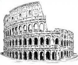 Ruin clipart roman colosseum
