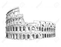 Colosseum clipart italian landmark