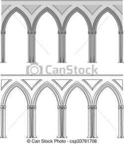 Columns clipart gothic