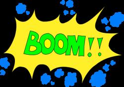 Boom clipart cartoon