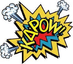 Batman clipart kapow