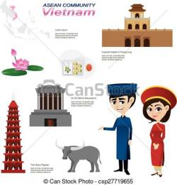 Vietnam clipart cartoon