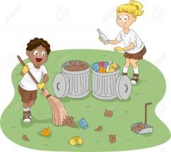 Litter clipart yard cleanup