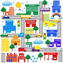 Area clipart neighborhood map