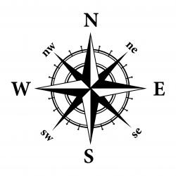 Steampunk clipart compass rose