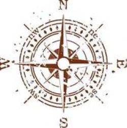 Compass clipart grunge