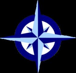 Compass clipart navy blue