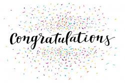 Confetti clipart congratulation