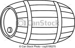 Barrel clipart black and white