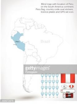 South America clipart blind