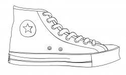 Drawn converse nike sneaker