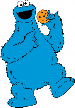 Sesame Street clipart cookie monster