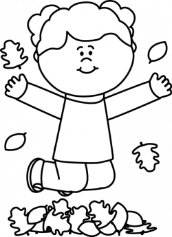 Jump clipart black and white