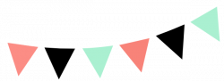 Mint clipart bunting
