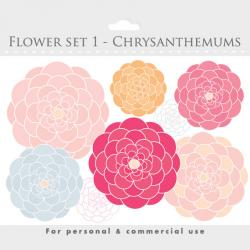 Chrysanthemum clipart digital