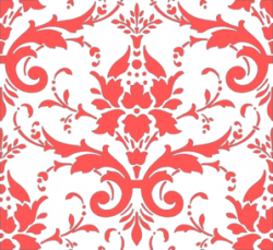 Damask clipart coral