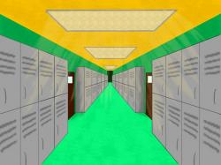Hallway clipart school