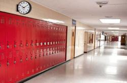 Hallway clipart modern school