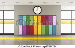 Corridor clipart modern school