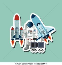 Cosmos clipart astronaut