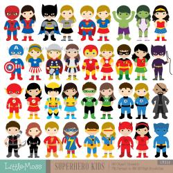 Flash clipart superhero kid